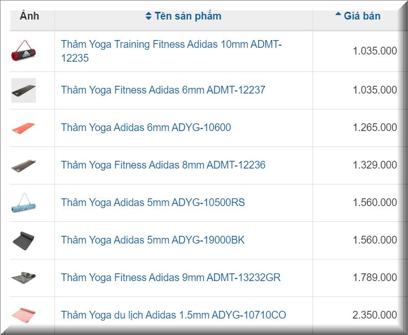 Top 8 Thảm tập yoga cao cấp Adidas tốt nhất hiện nay